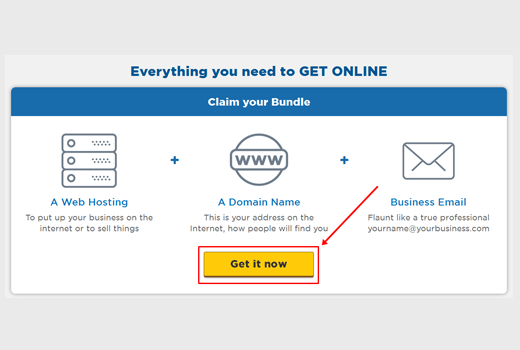 How to start a blog with hostgator Get it Now button
