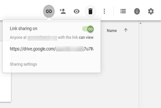 link share on google drive